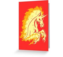 Blazing Stallion Greeting Card