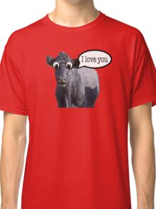 The confused cow loves you Classic T-Shirt