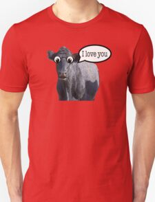 The confused cow loves you Unisex T-Shirt