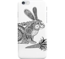 Rabbit with Carrot iPhone Case/Skin