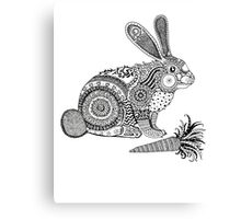 Rabbit with Carrot Canvas Print