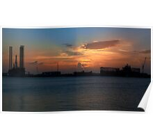 Sunset Panorama Poster