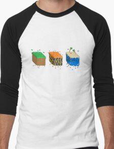 Pixel Block Environments Men's Baseball ¾ T-Shirt