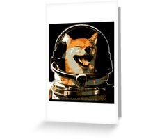Space Doge Greeting Card