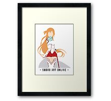 Asuna from Sword Art Online (Black Text) Framed Print