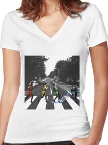 BEATLE KOMBAT Women's Fitted V-Neck T-Shirt