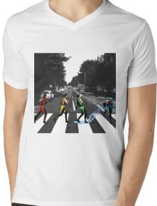 BEATLE KOMBAT Mens V-Neck T-Shirt