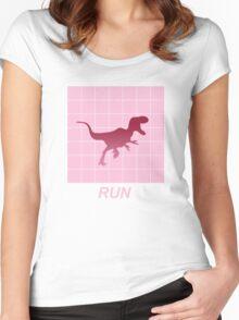Vaporwave Aesthetic Allosaurus Women's Fitted Scoop T-Shirt