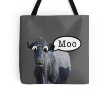 Cartoon cow speaks Tote Bag