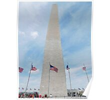 Washington Monument in Spring Poster