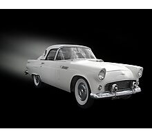 White Thunderbird Classic car on black Photographic Print
