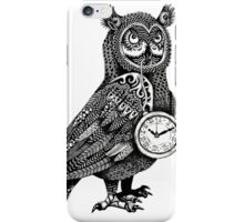 Great Horned Owl with Pocket Watch iPhone Case/Skin