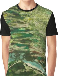 Abstract Green Camouflage Graphic T-Shirt
