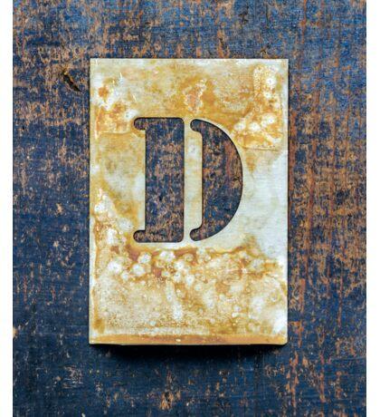 Letter D Sticker