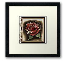 Rose butterfly morph Framed Print