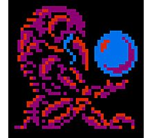 Metroid Chozo - Pink on Black Photographic Print