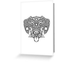 Happy Dog Face Design Greeting Card