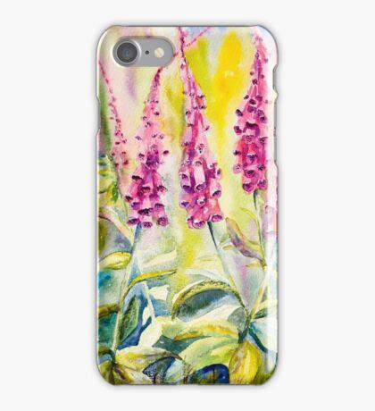 Pink Foxgloves iPhone Case/Skin