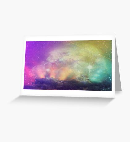 Galactic Sunset Greeting Card
