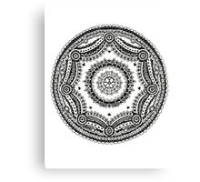Sphere Design - Zentangle Canvas Print
