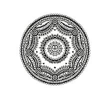 Sphere Design - Zentangle Photographic Print
