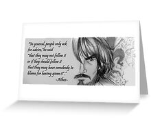 Athos Sketch Quote Greeting Card