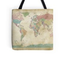 Political World Map Tote Bag