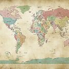 Political World Map by ArtPrints