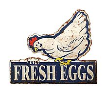 fresh eggs sign by Val Goretsky