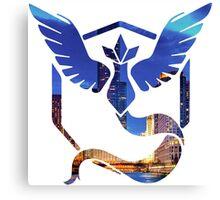 Pokemon Go Mystic Team City Lights Canvas Print