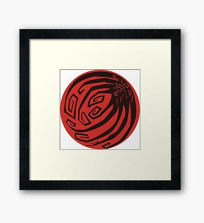 Ninetails Moon Framed Print