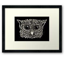 Staring owl Framed Print