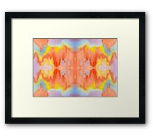 Handpainted Abstract Watercolor Orange Yellow Blue Purple Framed Print