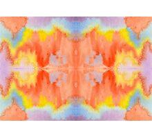 Handpainted Abstract Watercolor Orange Yellow Blue Purple Photographic Print