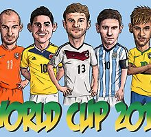 World Cup footballers by Ben Farr