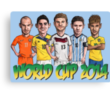 World Cup footballers Canvas Print