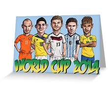 World Cup footballers Greeting Card