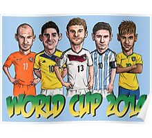 World Cup footballers Poster
