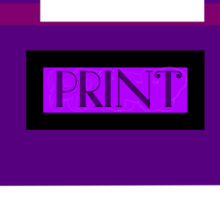 The Purple Printer Prints A Pink Pimpled Pickle Picture Sticker