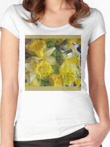 Daffodil Dance Women's Fitted Scoop T-Shirt