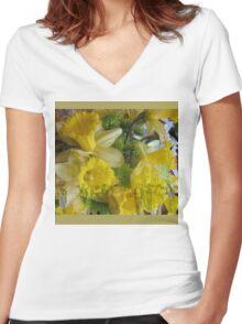 Daffodil Dance Women's Fitted V-Neck T-Shirt