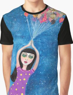 Missy and the Moon Balloons Graphic T-Shirt