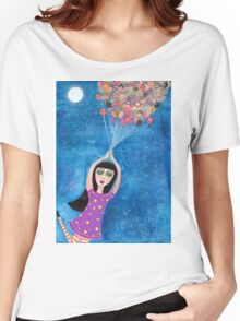 Missy and the Moon Balloons Women's Relaxed Fit T-Shirt
