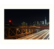 Brooklyn Bridge, Manhattan  Art Print