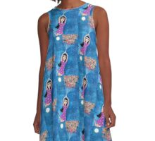 Missy and the Moon Balloons A-Line Dress