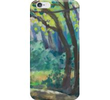 French Footbridge Painting iPhone Case/Skin