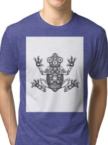Frog Zentangle Tri-blend T-Shirt