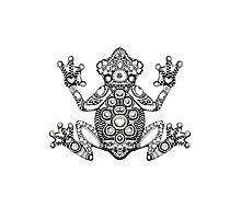 Frog Zentangle Photographic Print