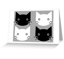 Checker Cats Greeting Card