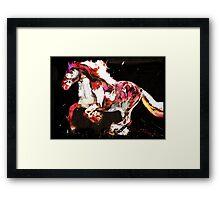 Painted Irish Gypsy Horse Framed Print